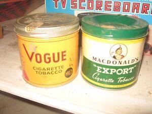 Tobacco Tins - Vogue Export A - Good Condition