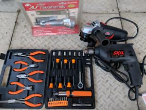 $20 Tool Job lot - grinder, drill, cut-off, tool set