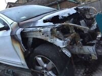 2013 AUDI Q7 LHD (FIRE DAMAGE) WHITE SPARES REPAIR