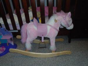 pink rocking horse.