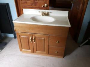 Oak bathroom vanity for sale