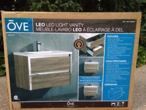Brand new in the box, Ove Leo LED light vanity, modern quality d