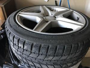 "NEW BLIZZACK WINTER TIRES & RIMS 245/40R 18"" audi bmw Lexus"