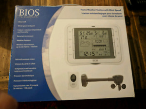 New Bios Weather Home Weather Station with wind speed sensors