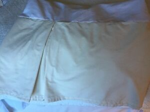 "Queen Size light beige bedskirt 14"" drop"