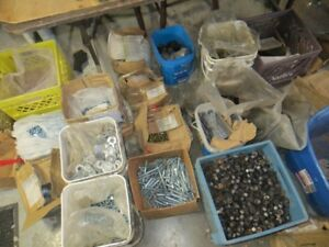 Large supply of nuts, bolts and washers