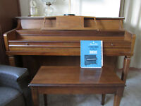Mason & Risch 41in. piano and bench