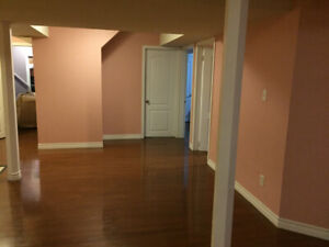 Two bedroom basement apartment on rent.