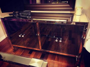 Glass Sideboard For Sale