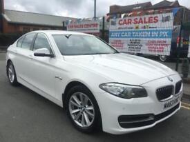BMW 5 SERIES 518D 2.0TD 2013/63 WHITE *£30 TAX *FULL BMW HISTORY *MEGA SPEC *PX