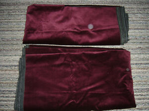 Thick Burgandy Upholstery Fabric-More than 4 Meters Lot