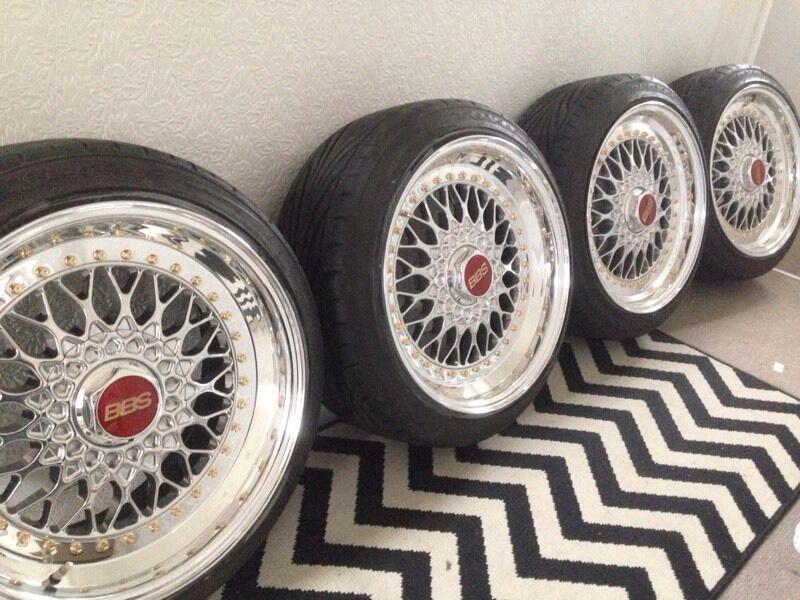 bbs rs 301 17 5x100 alloy wheels in grangemouth