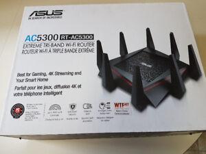 New in box Asus AC-5300 tri band router best one on the market