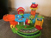 Toot toot garage with vehicles