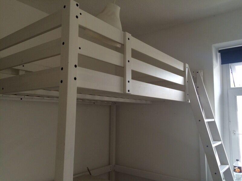 ikea stora double loft bed frame 95 ono in penarth vale of glamorgan gumtree. Black Bedroom Furniture Sets. Home Design Ideas