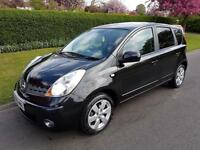 NISSAN NOTE 1.6 (16v) TEKNA - AUTOMATIC - 5 DOOR - 2008 - BLACK