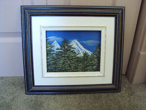 "14"" x 16"" framed original oil painting 'Mountain View'"