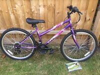 "Girls 24"" 18 speed mountain bike"