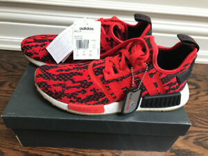 Brand new never worn Europe exclusive nmd r1 red black white