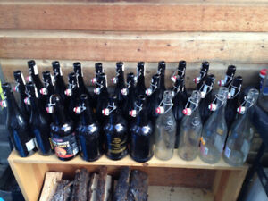 29 flip top BOTTLES good for homebrew, most are 750ml