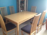 OAK TABLE (CHAIRS NOT INCLUDED)