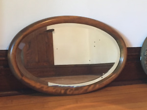 Oval Mirror - Wooden Frame