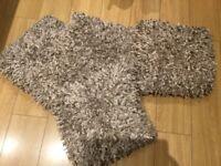 Shaggy sparkly cushions 4 No. £10 (coffee/beige)