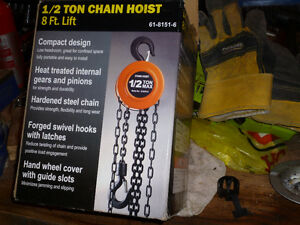 Half Ton Chain Hoist+One Ton Cable Winch New