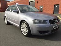 JULY 2005 AUDI A3 SE TDI 6 SPEED TWO OWNERS JUST SERVICED LONG MOT