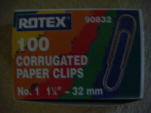 Rotex metal paper clips