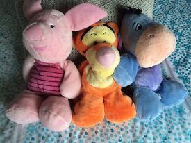 Disney huggable teddys x 3