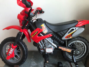 Lil Rider kids electric motorcycle /w training wheels
