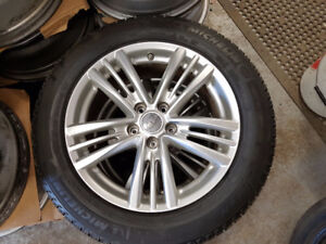 225 55 17 Michelin  tires on OEM Infinity G37 alloys / TPMS