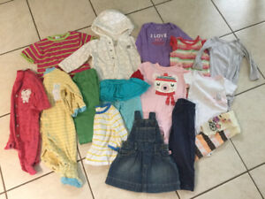Girl clothes lot 0-12 month