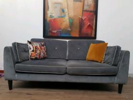 Sofology Cricket 3 seater sofa in grey velvet RRP £1050