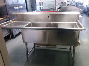 Stainless Steel 24'x24' Double Sink With Drainboard! Brand New!