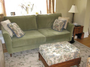 CONTEMPORARY GREEN SOFA