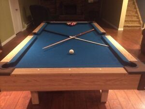 "Gorgeous 4 x 71/2"" pool table & accessories"