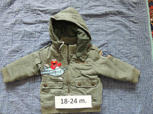 Baby-toddler winter and rain jackets in exc. condition