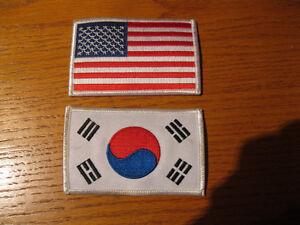 US AND SOUTH KOREA FLAG BADGE