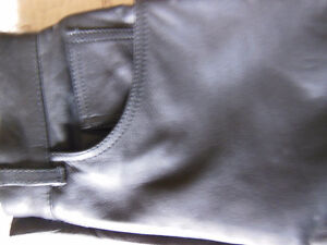 Women's Black Leather Pants. Motorcycle Riding Pants