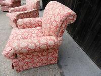 4 Designer Floral Bedroom Sofa chairs