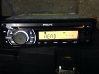 PHILLIPS CD IPHONE USB AUX PLAYER car stereo ONLY £20!!!