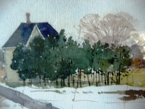 """Early Spring """"Near Eckhardts Corners, Stouffville, Watercolor Stratford Kitchener Area image 3"""