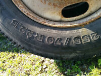 Used 255/70/22.5 Good Condition on Rims
