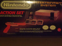 Nintendo NES Deluxe Gray Console Action Set with Original Box