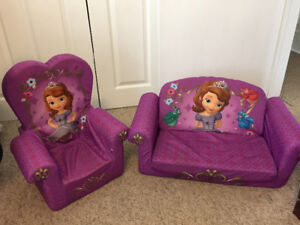 Sofia the First High Back Chair and Sofa
