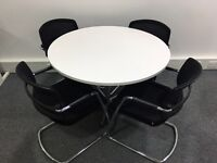 Round table + four chairs