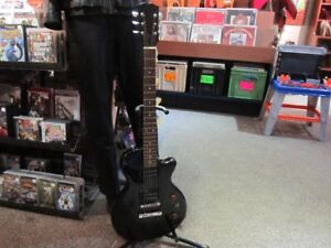 Black 6 String Electric Guitar With NEW Strings For Sale