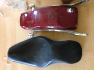 Seat and fender for 07 Harley